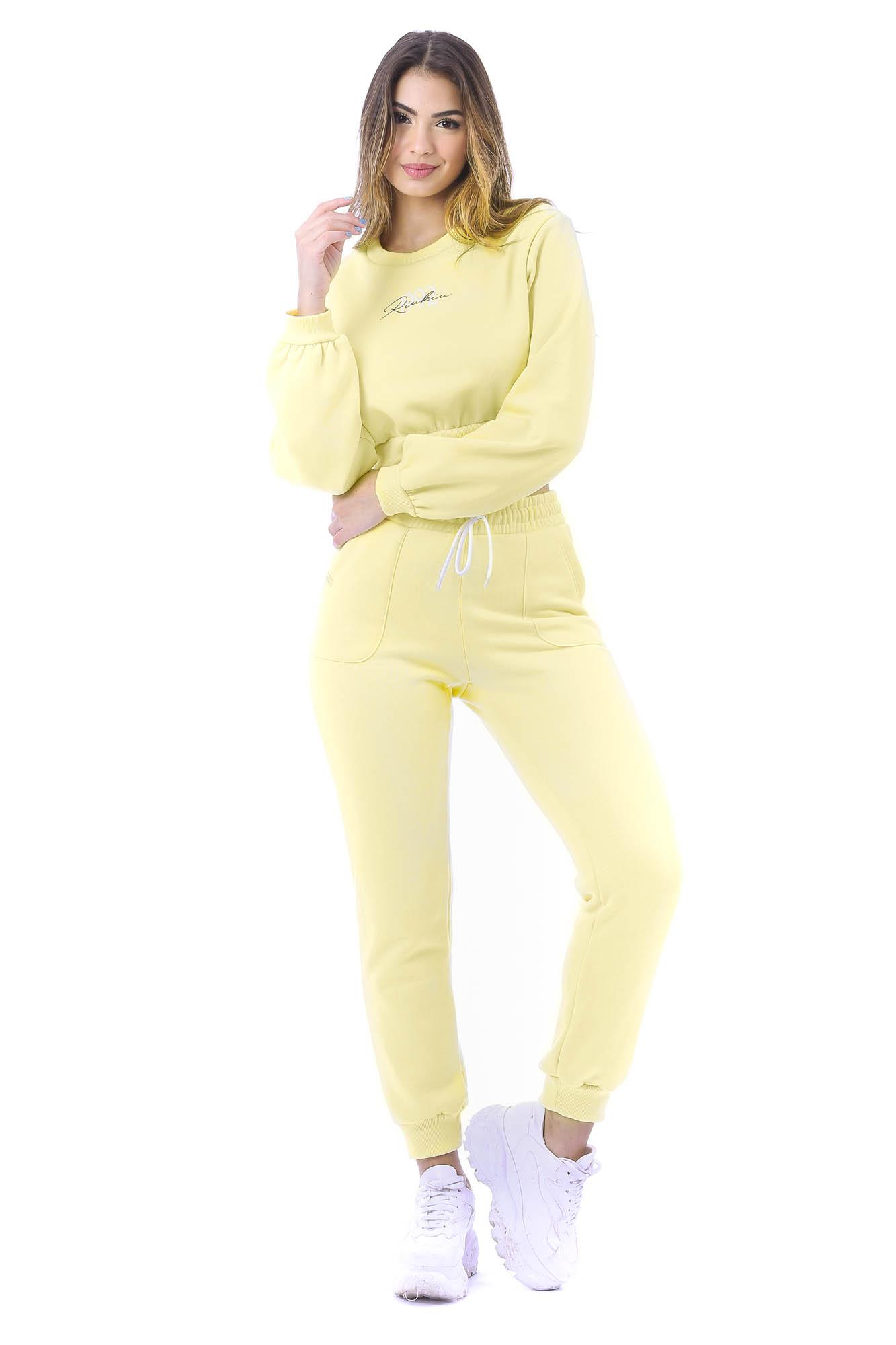 Calça Comfy de Moletom Amarelo