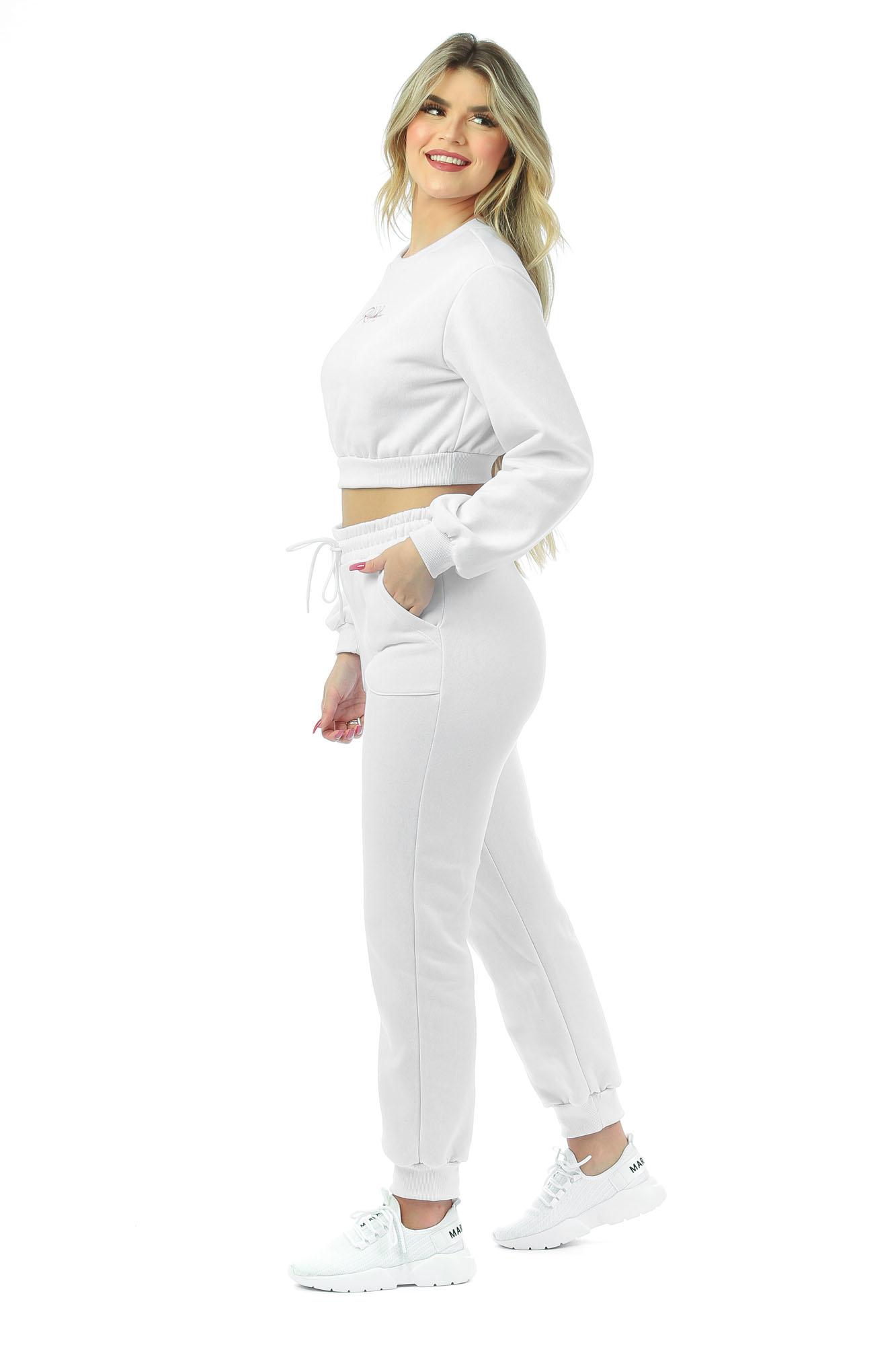 Calça Comfy de Moletom Branco