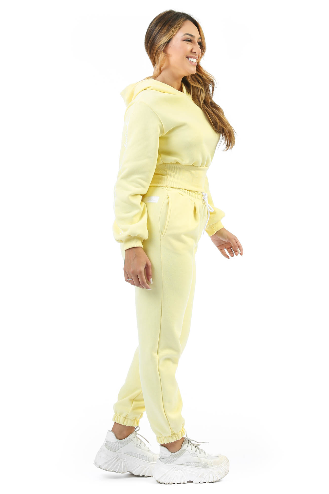 Calça de Moletom Baddie Baby Amarelo