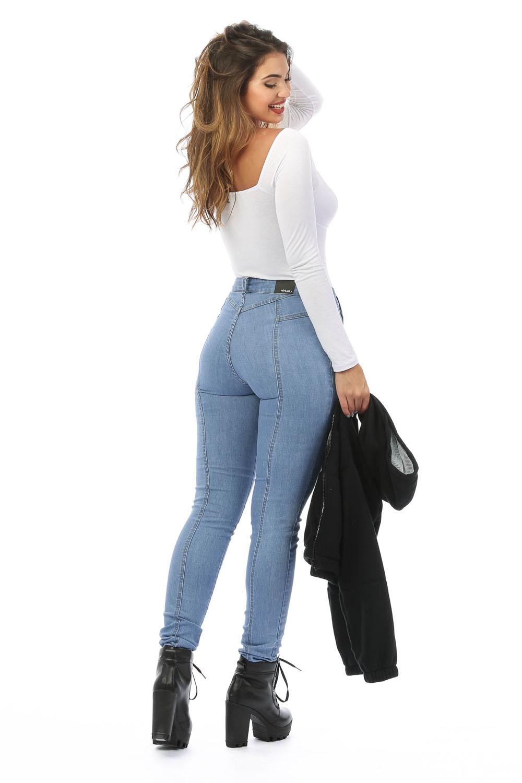 Calça Jeans com Recortes Kylie