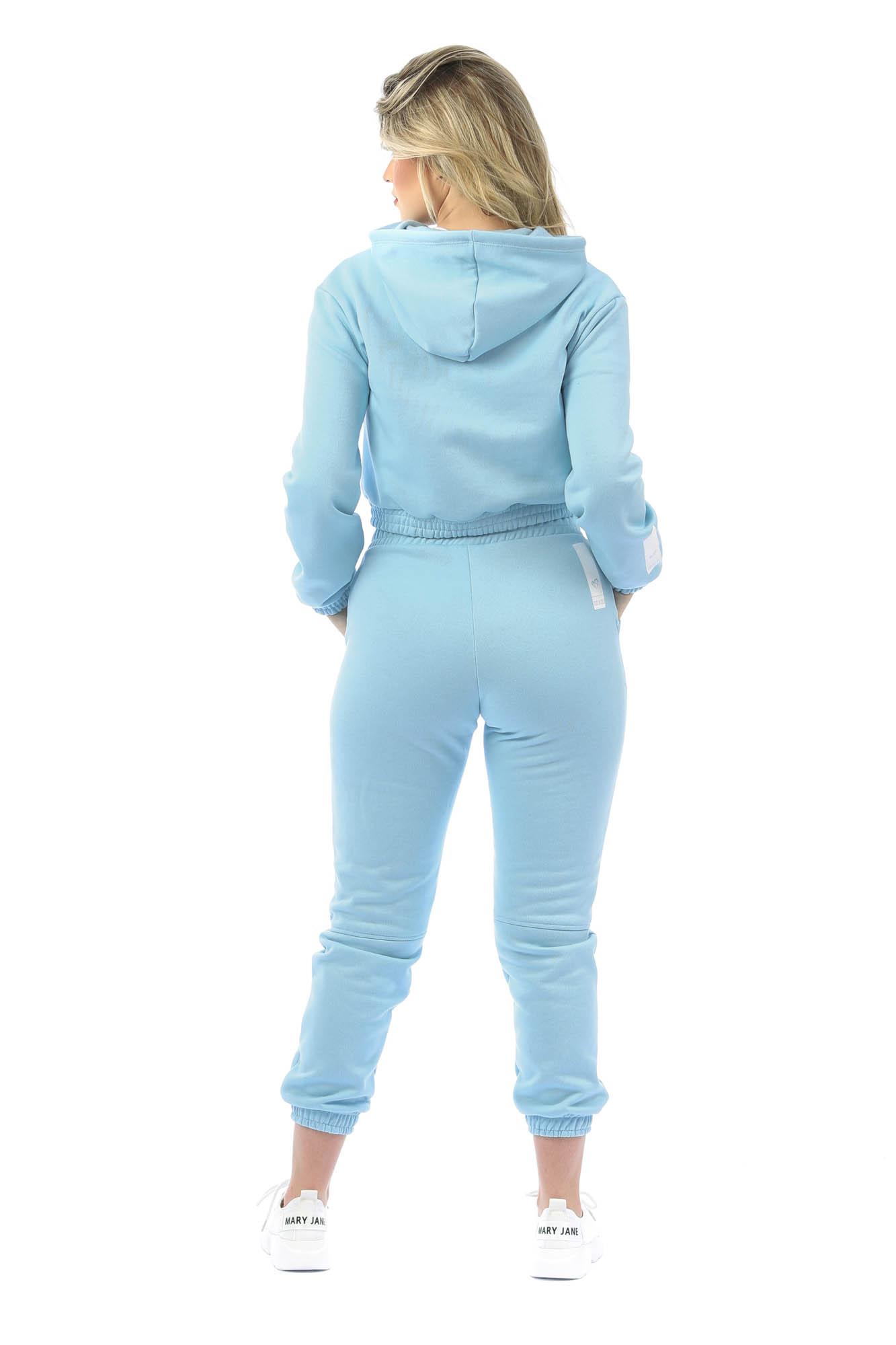 Calça Jogger Recortes Cosy Azul