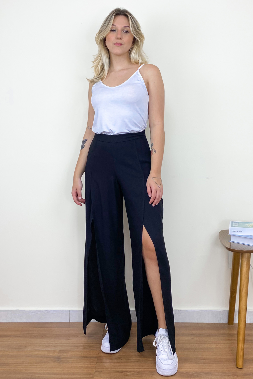 Calça Pantalona Catarina Preto