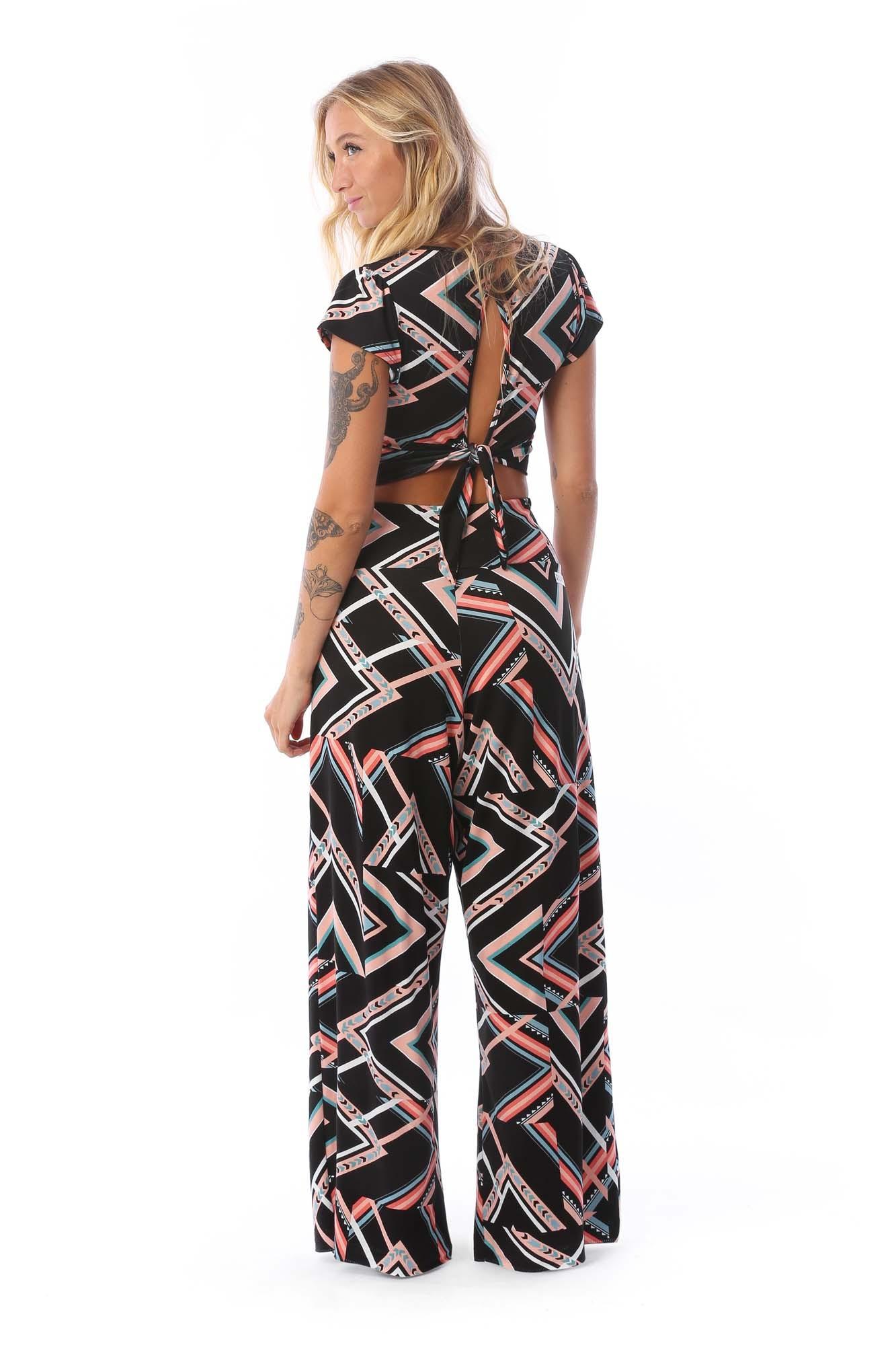 Calça Pantalona Geometric