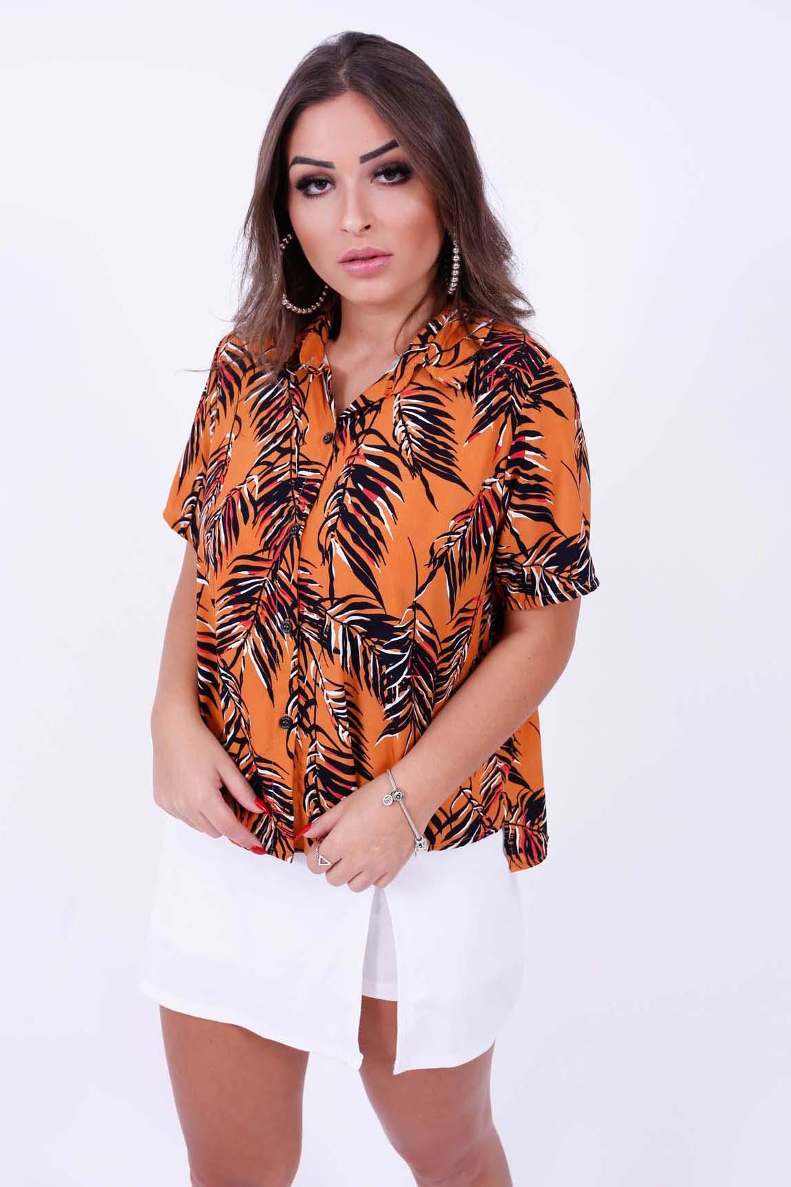Camisa Flórida Mostarda