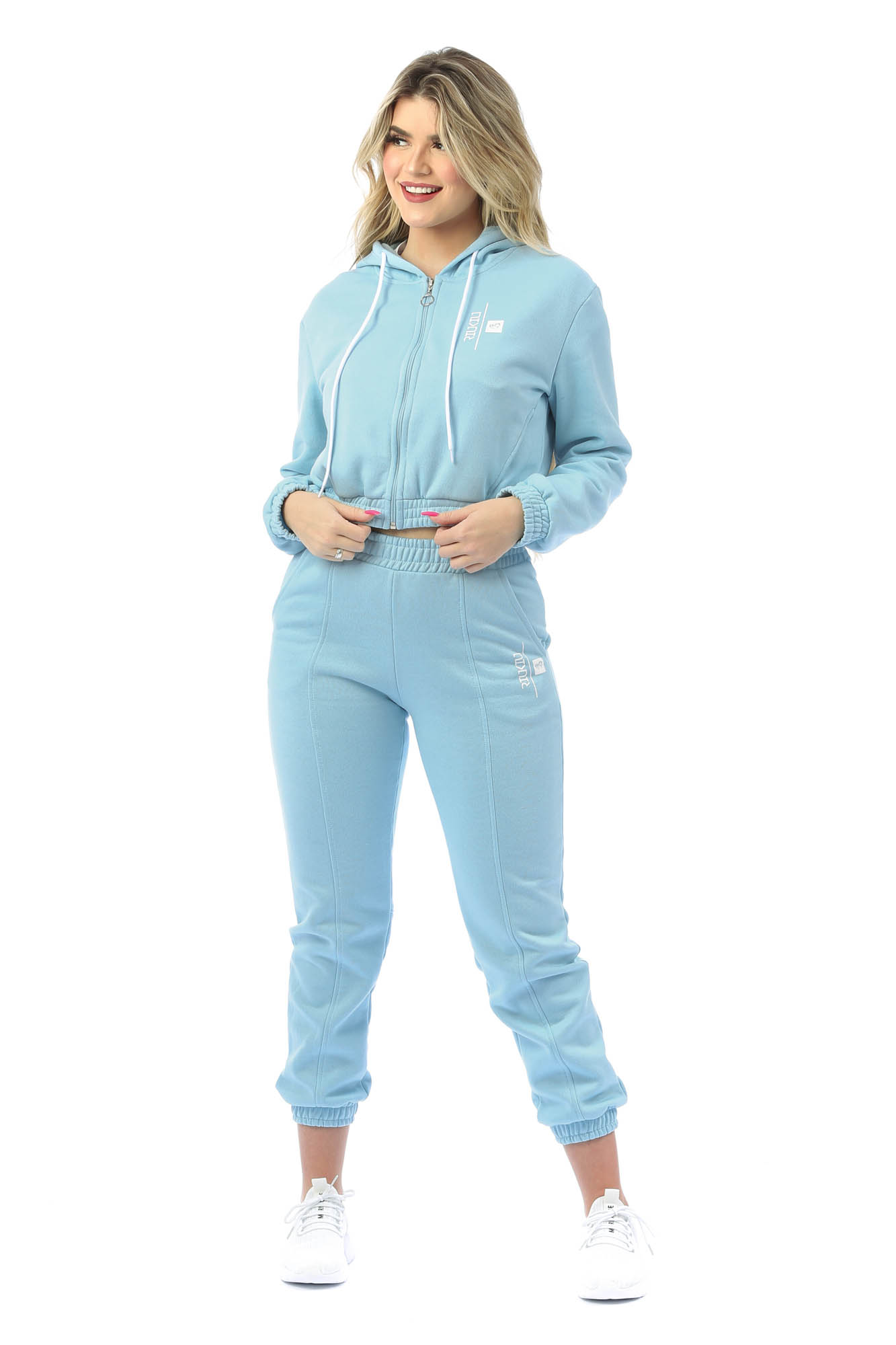 Jaqueta com Capuz Cosy Azul