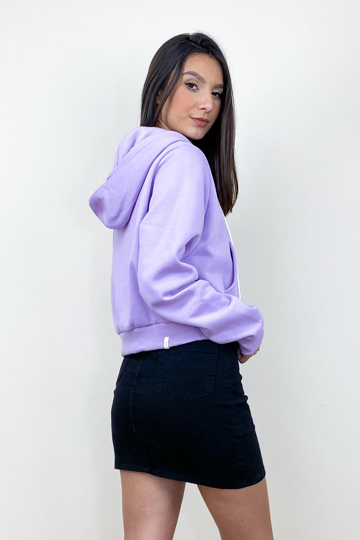 Jaqueta de Moletom Nora Lilás
