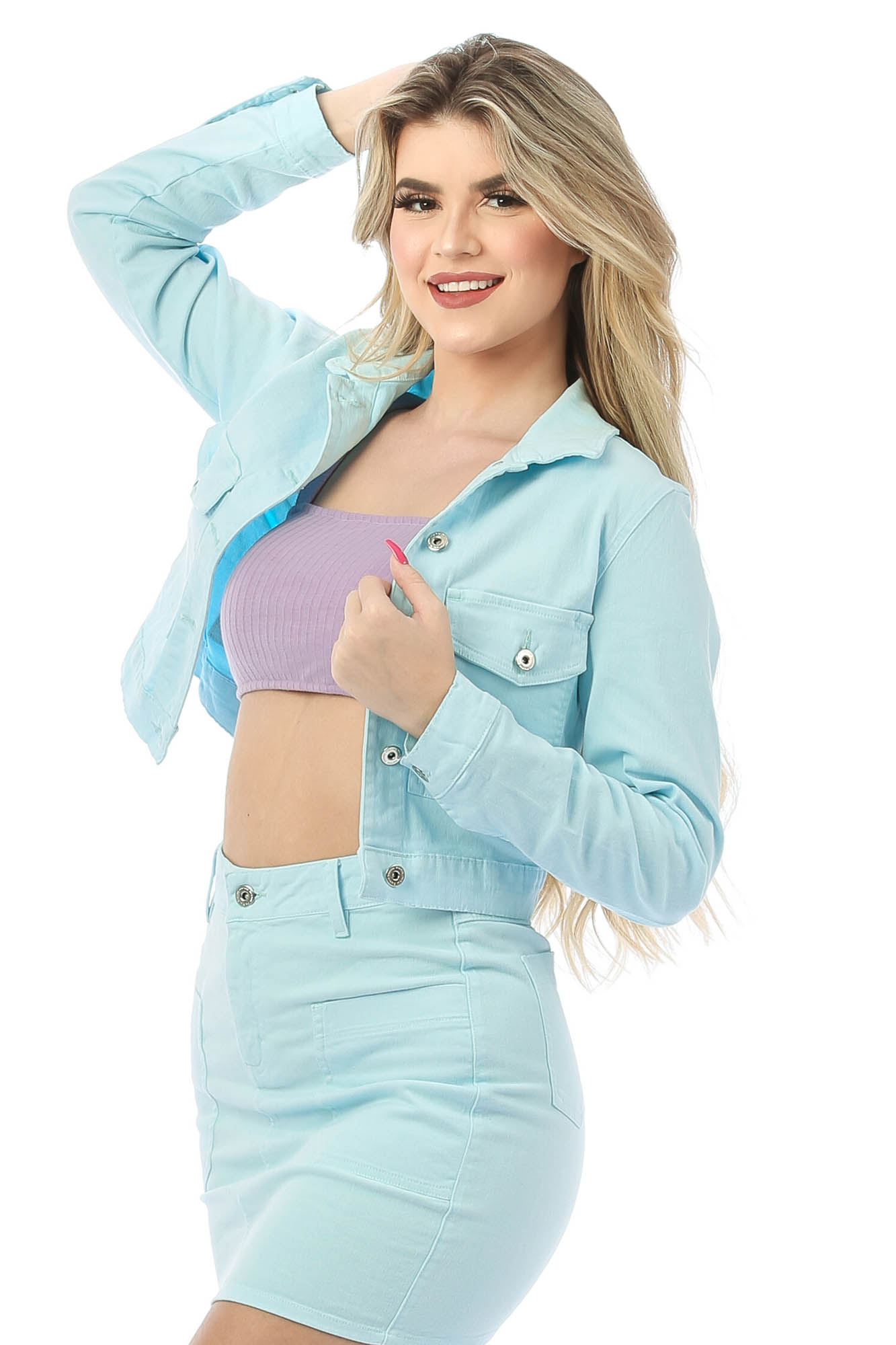 Jaqueta de Sarja Curta Bella