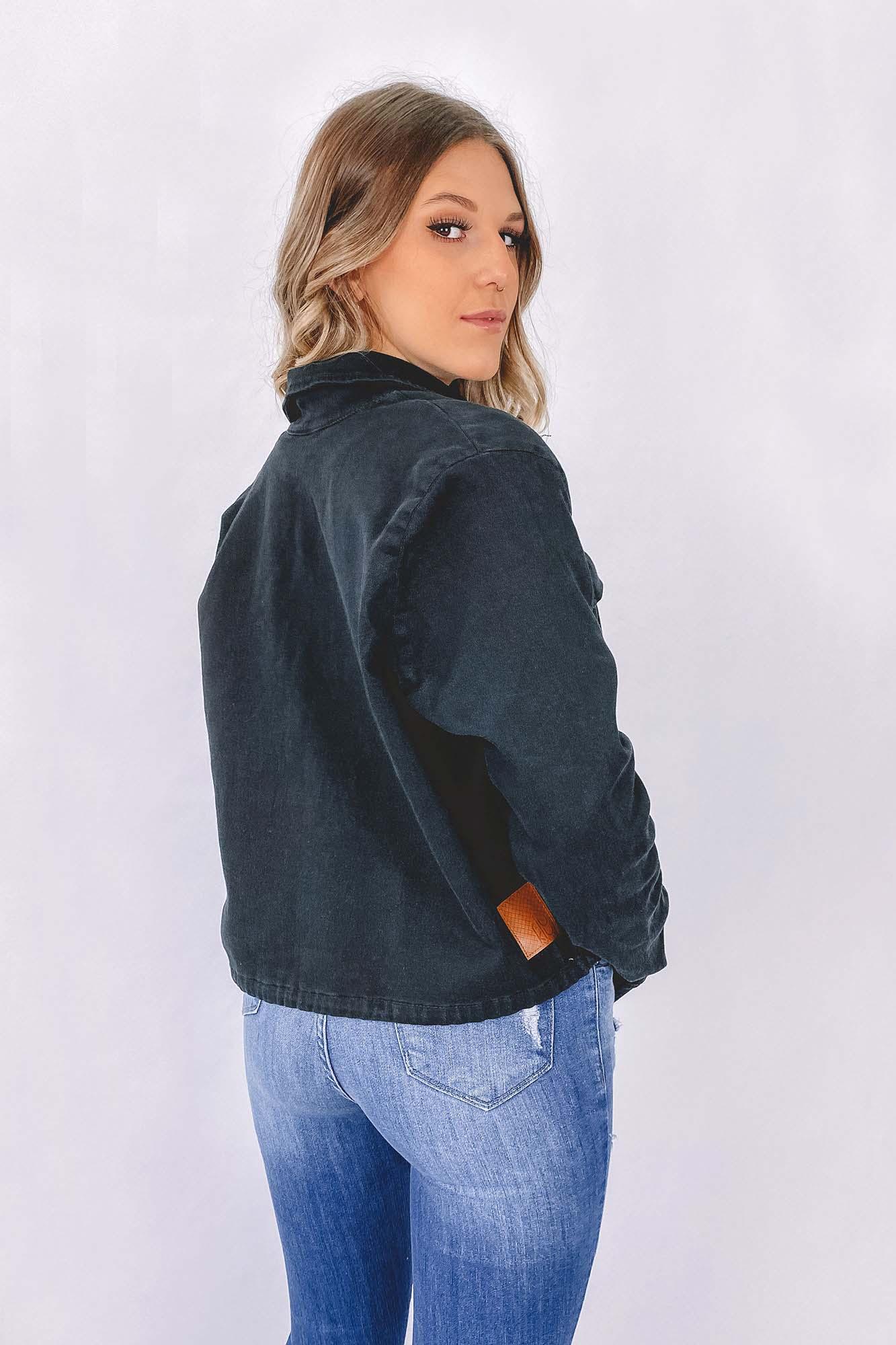 Jaqueta de sarja Nina Preta