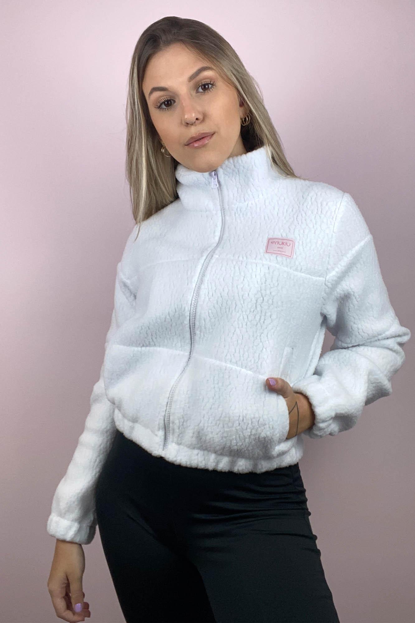 Jaqueta Teddy Branco