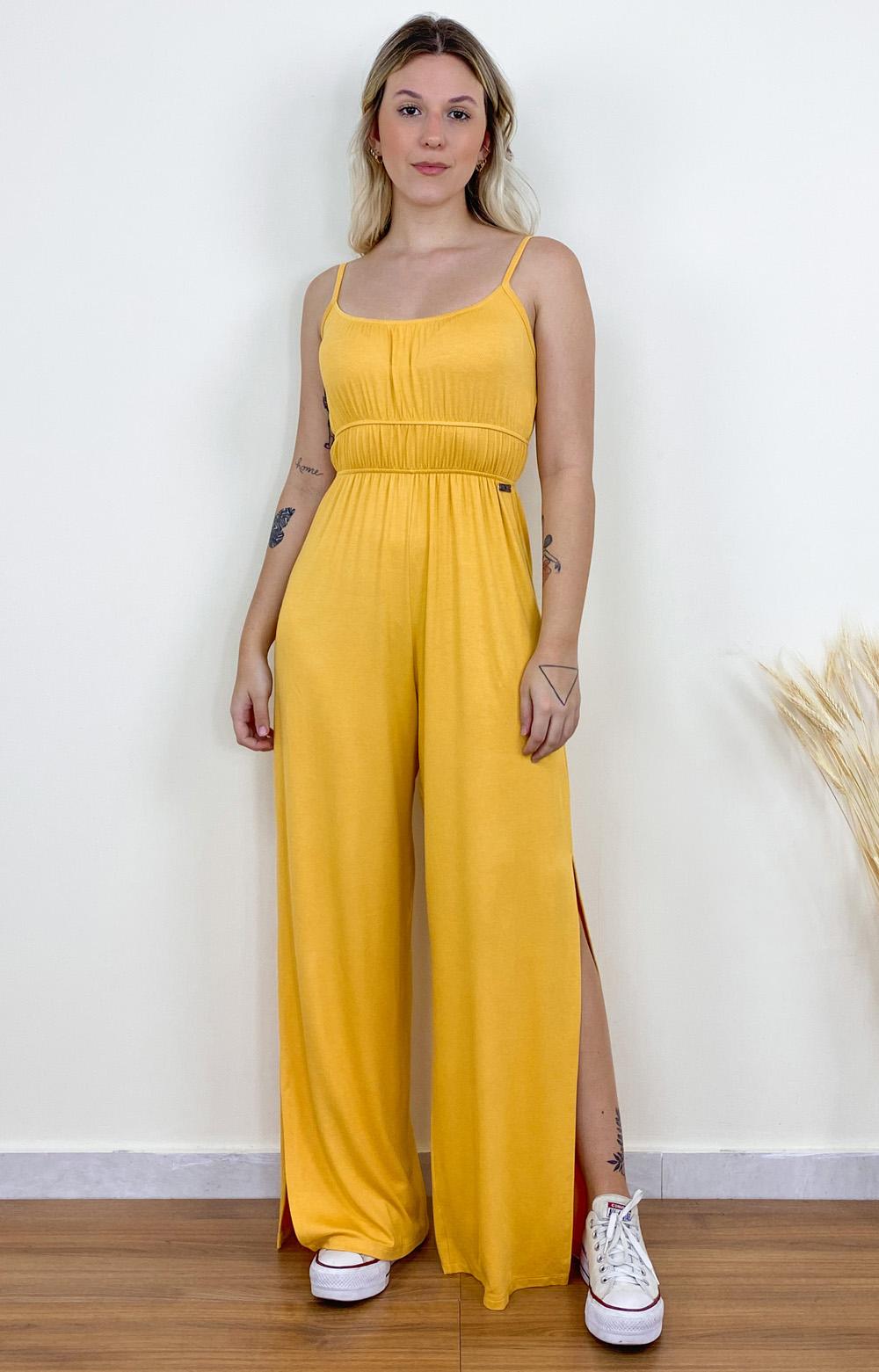 Macacão Jade Amarelo