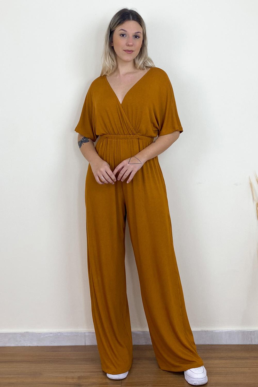 Macacão Pantalona Versace Mostarda
