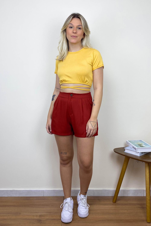 Shorts Alfaiataria Izzy Telha