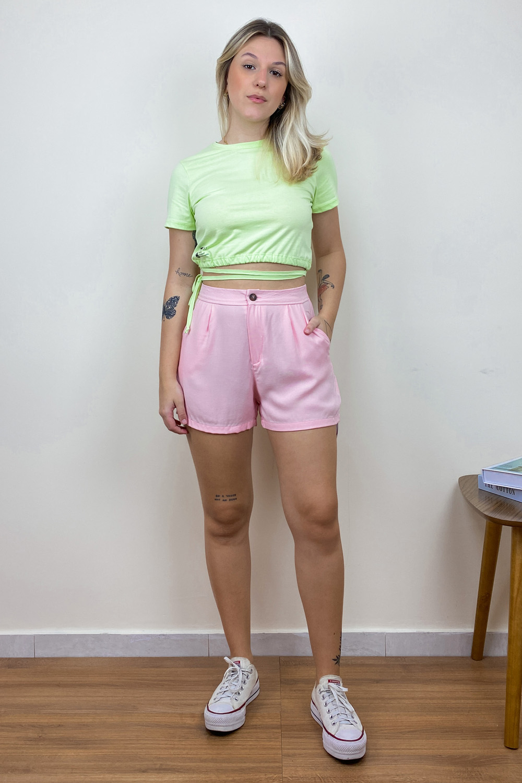 Shorts Alfaiataria Izzy Rosa
