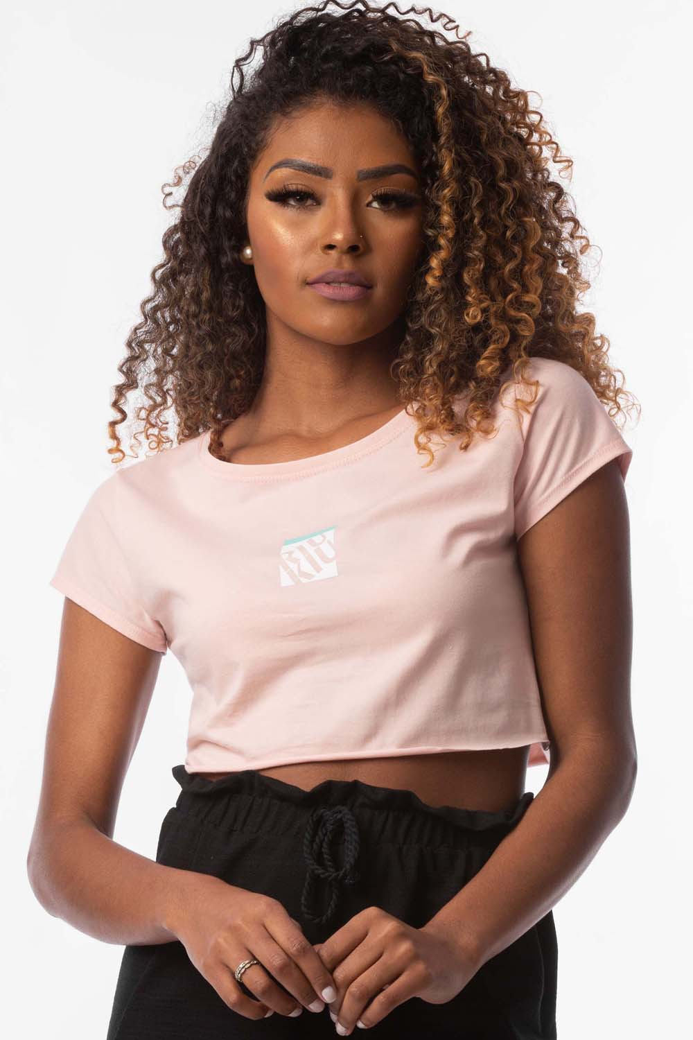 T-shirt cropped Taila Rosa