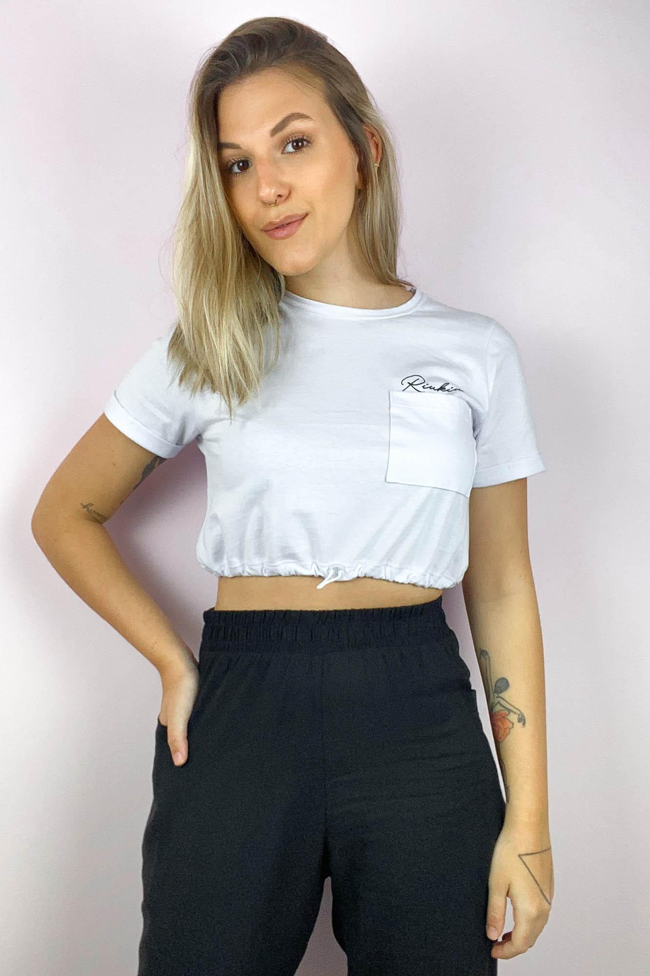 T-shirt Cropped Tamy Branco