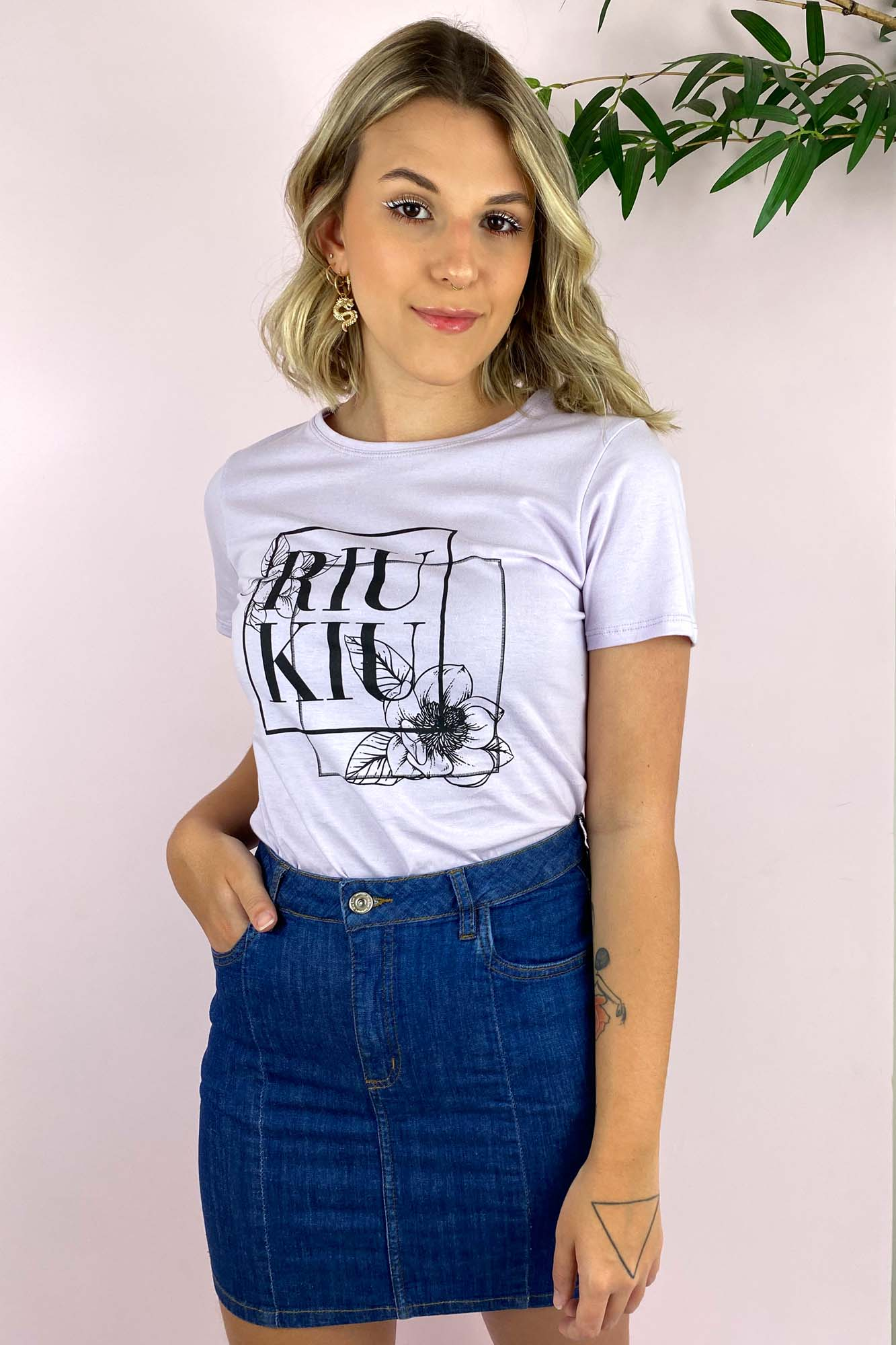 T-shirt Lari Lilás