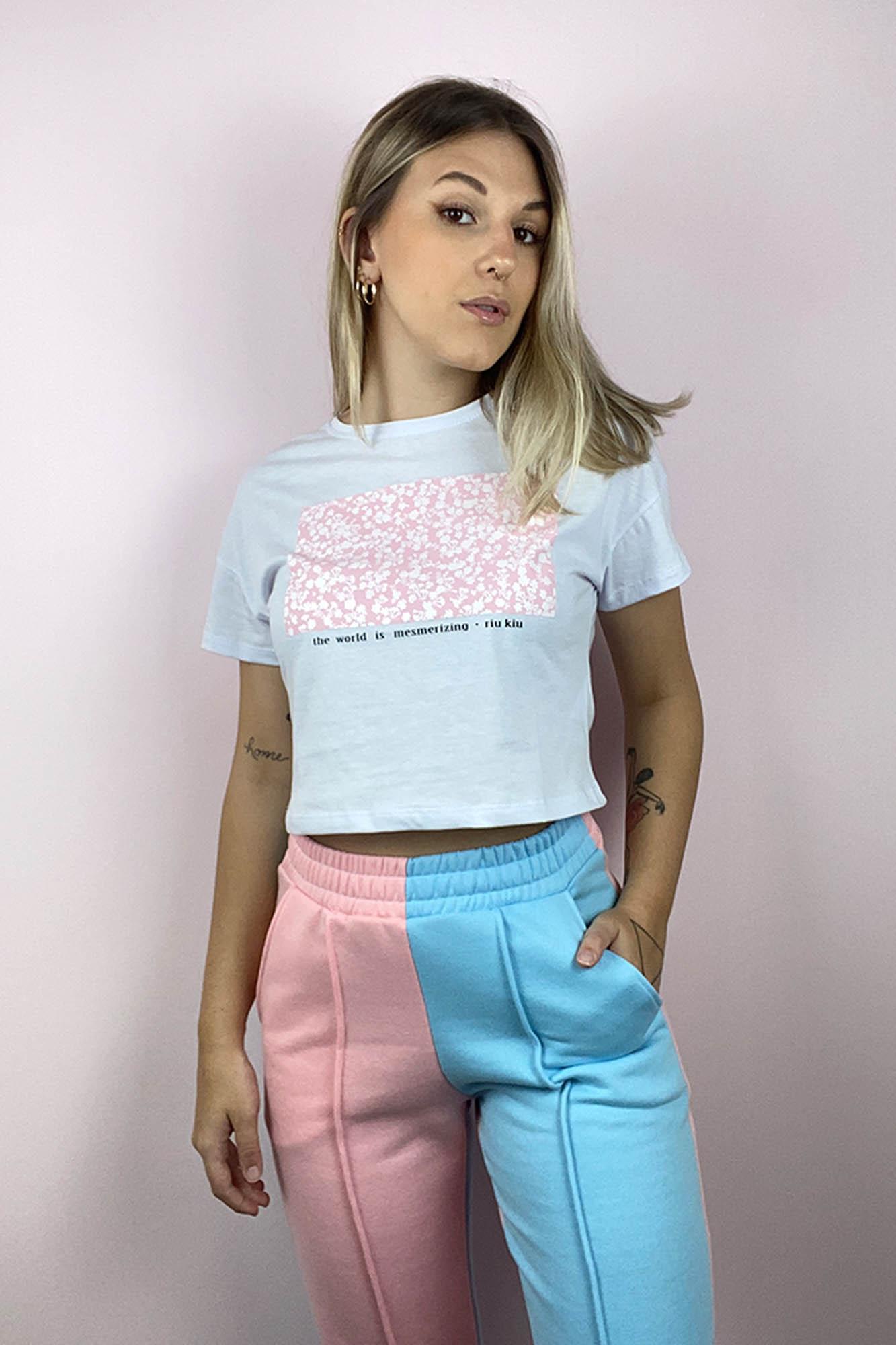 T-shirt New Flower Branco