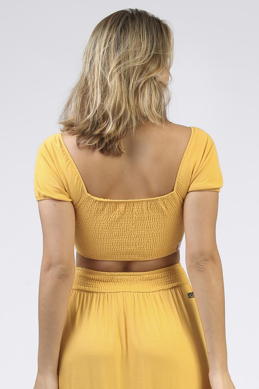Top Lastex Loli Amarelo
