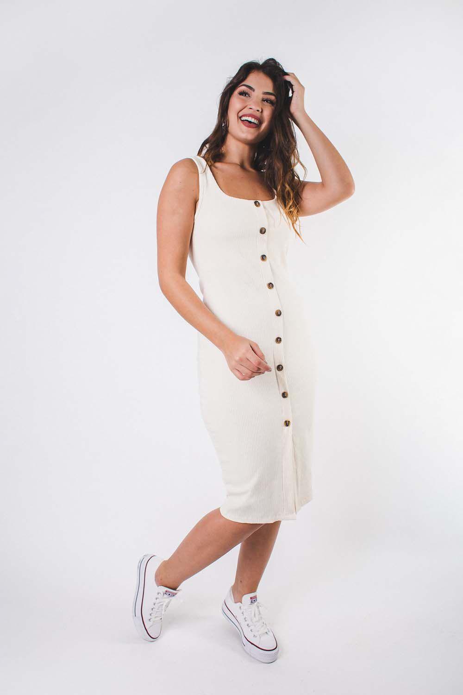 Vestido Brisbane Off White