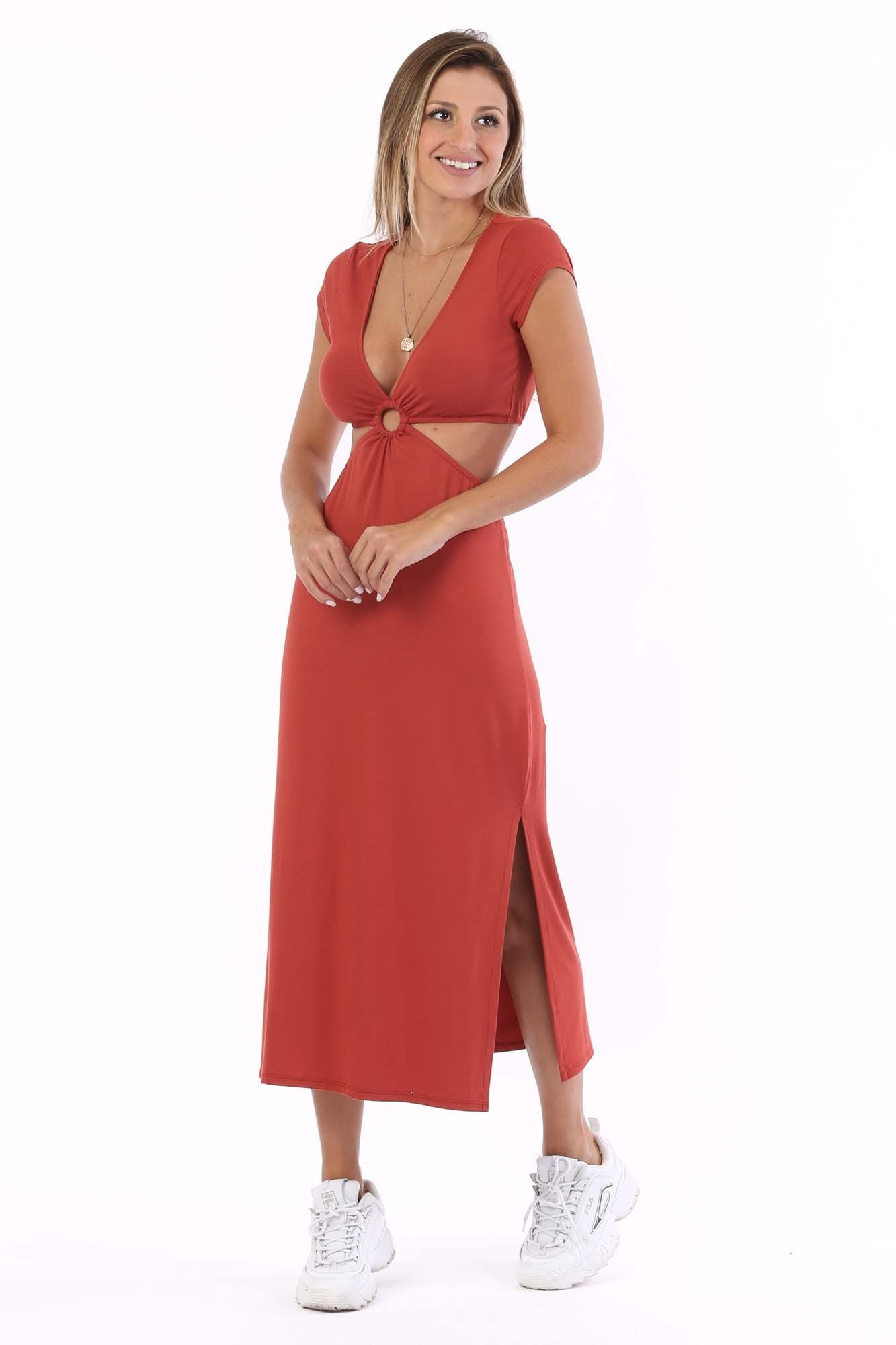 Vestido Midi Carmel Ferrugem