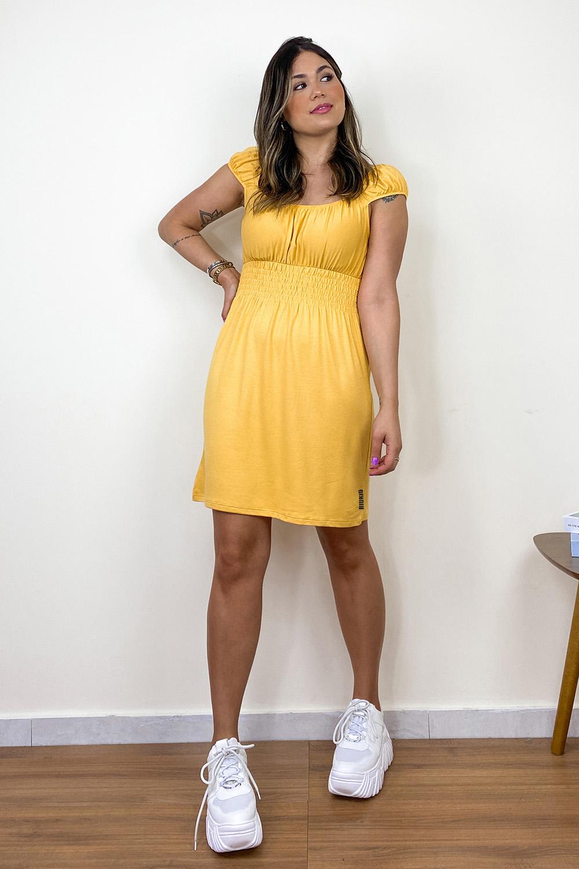 Vestido Ciganinha Amarelo