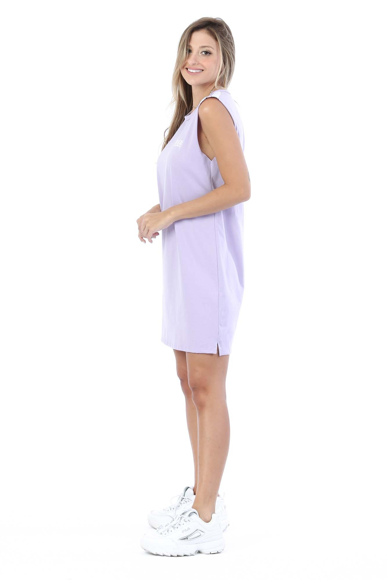 Vestido T-shirt Regata Cindy Lilás