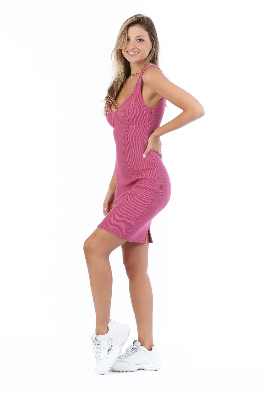 Vestido Deb Rosa