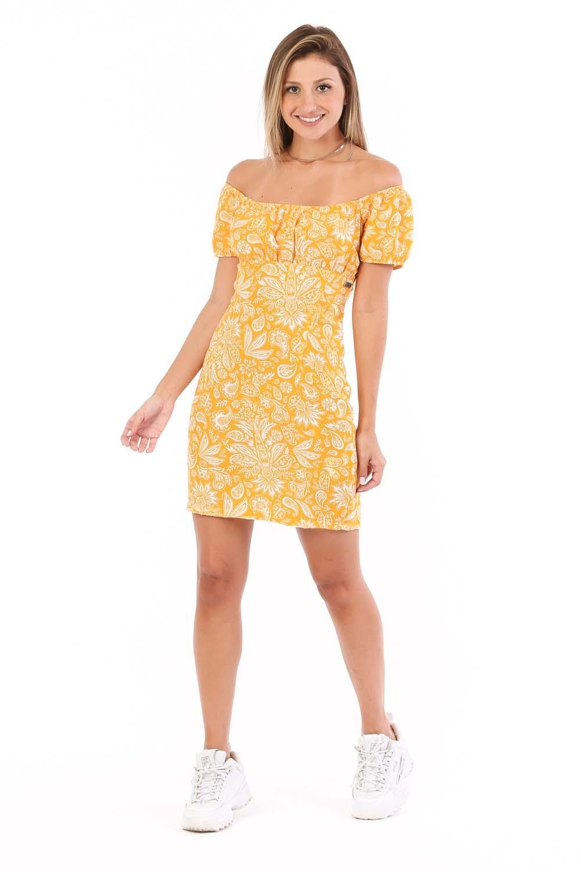 Vestido T-shirt Maitê Amarelo