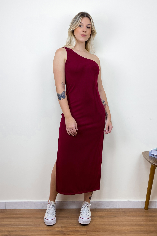 Vestido Midi Giane Vinho