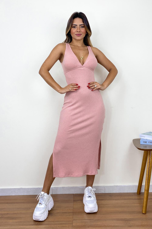 Vestido Midi Leona Rosa