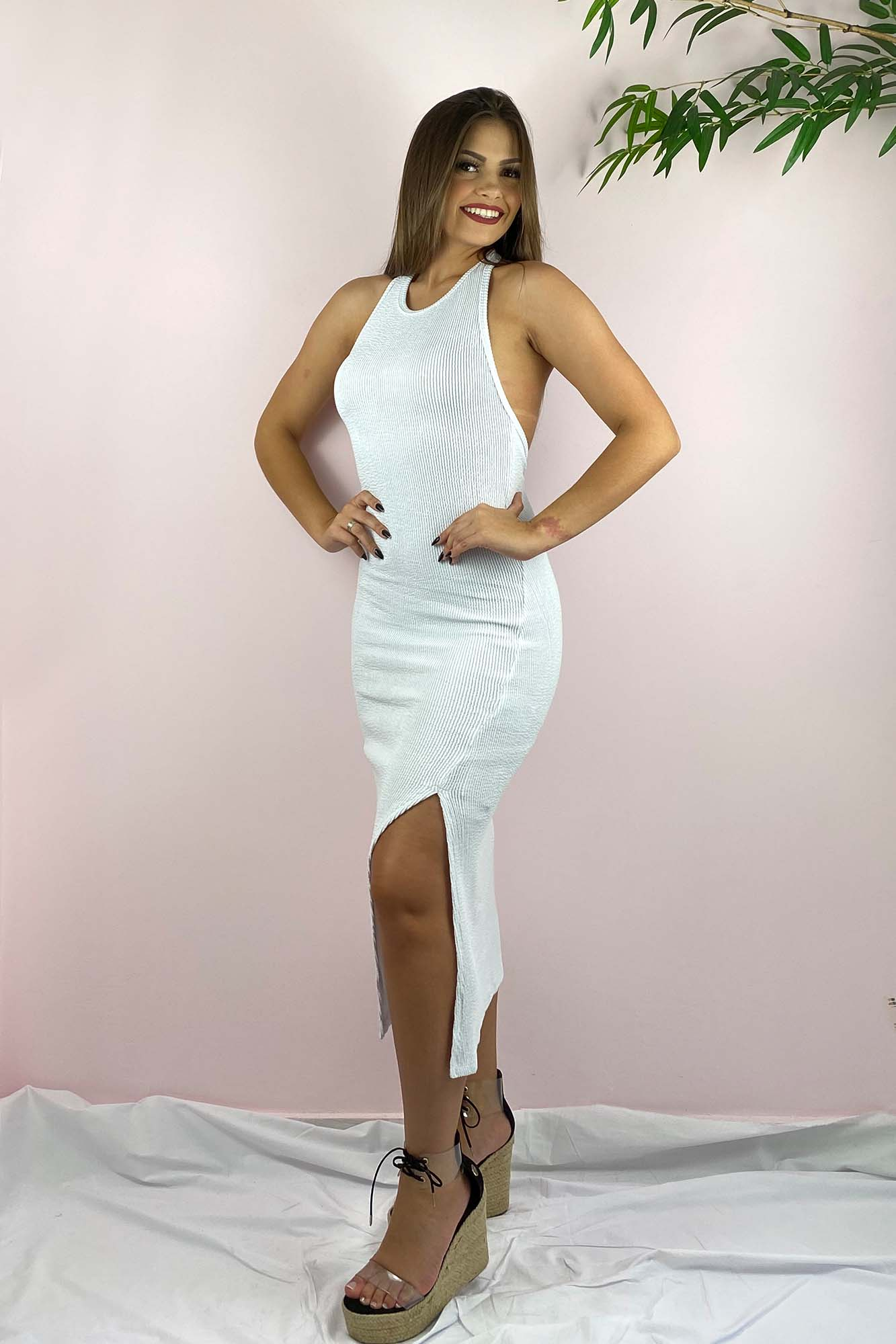 Vestido Midi Simone Branco