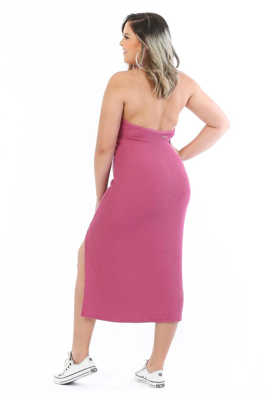 Vestido Midi Simone Rosa