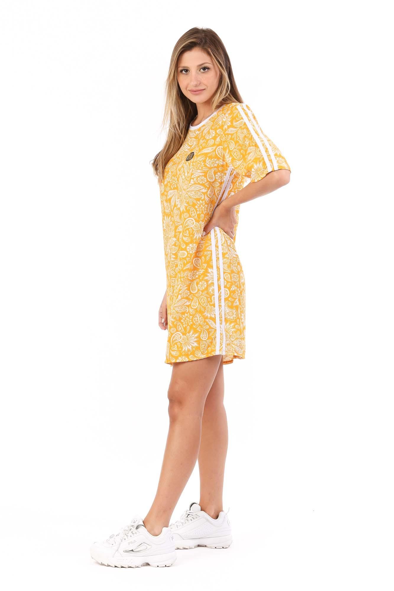Vestido T-shirt Thamires Amarelo