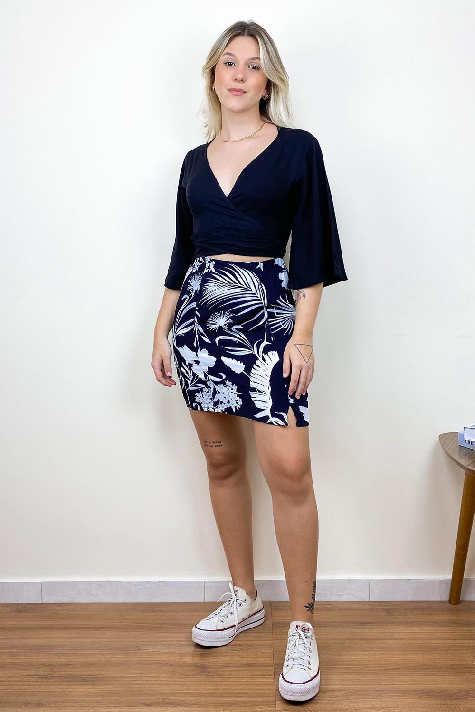 Vestido Transpassado Daphne Preto