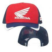 Boné Trucker Honda Racing Vermelho/Azul