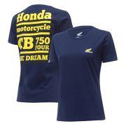 Camiseta Feminina Honda CB750 Four Azul - Coleção Vintage