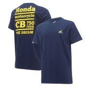 Camiseta Masculina Honda CB750 Four Azul - Coleção Vintage