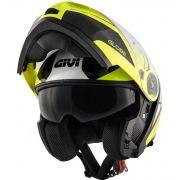 Capacete GIVI X21 Challenger Globe Preto/Amarelo Fluor/Prata