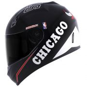 \Capacete Norisk FF391 Stunt NBA Chicago Bulls Preto