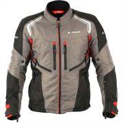 Jaqueta Adventure LS2 Gallant Masculina Impermeável cinza/preto/vermelho