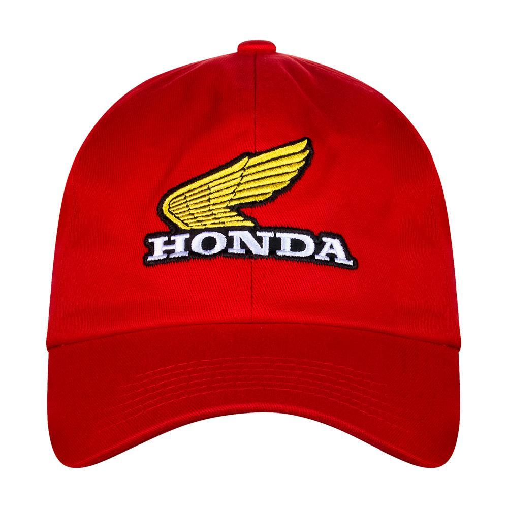 Boné Honda Bordado Vermelho - Coleção Vintage  - Convem Honda