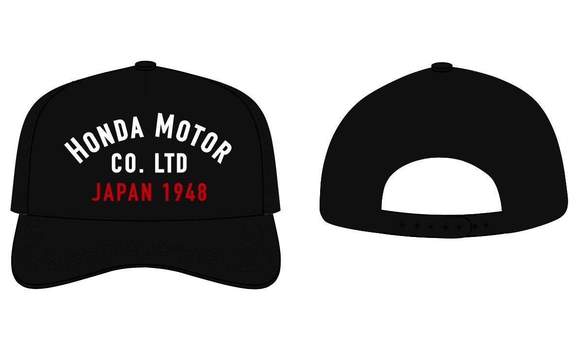 Boné Honda Japan 1948 Silk Preto  - Convem Honda