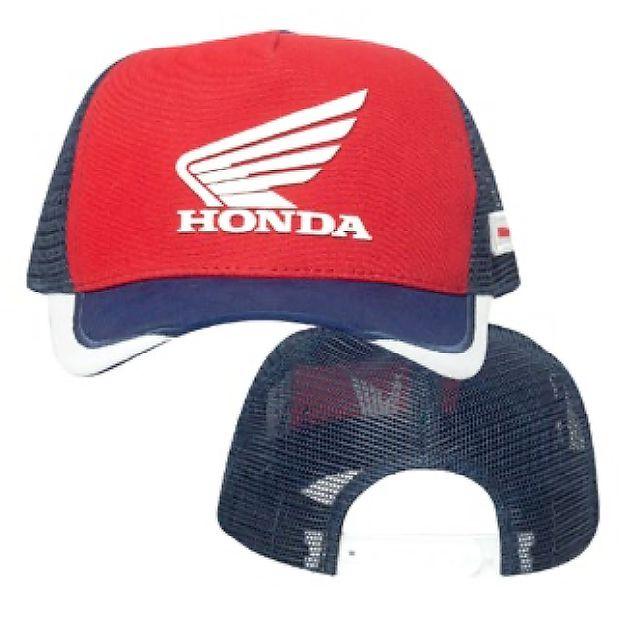 Boné Trucker Honda Racing Vermelho/Azul  - Convem Honda