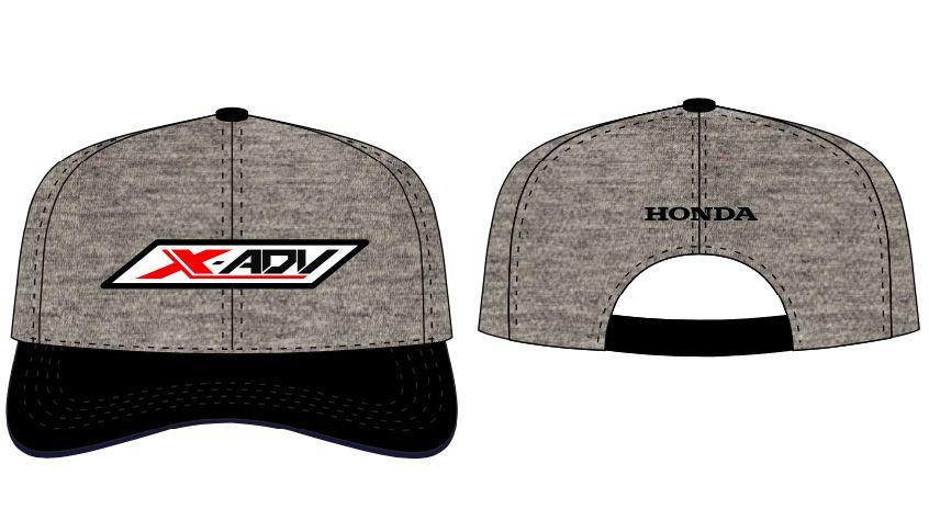Boné Trucker Honda X-ADV Logo Cinza/Preto  - Convem Honda