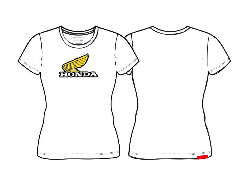Camiseta Feminina Honda Branca - Coleção Vintage  - Convem Honda