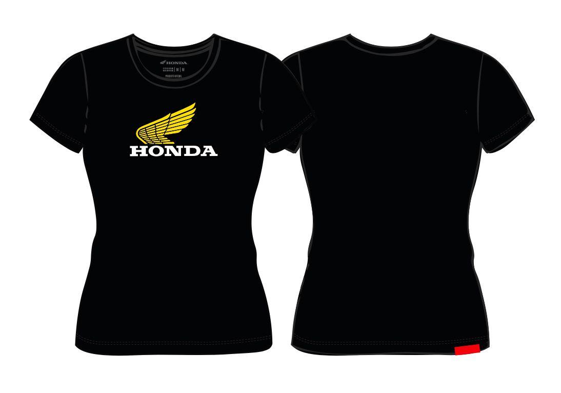 Camiseta Feminina Honda Preta - Coleção Vintage  - Convem Honda