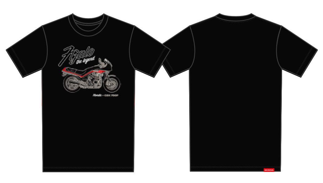 Camiseta Honda 7Galo Preta - Coleção Vintage  - Convem Honda