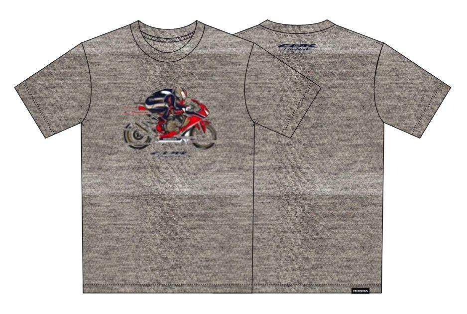 Camiseta Honda CBR Fireblade Cinza Mescla  - Convem Honda