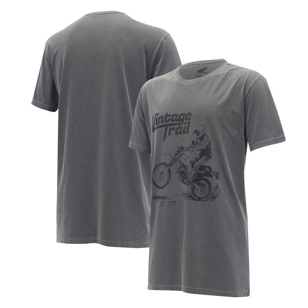 Camiseta Honda XL250 Estonada Preta  - Convem Honda