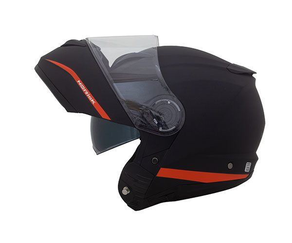 Capacete Articulado Norisk Force Simplicity Preto/Laranja  - Convem Honda
